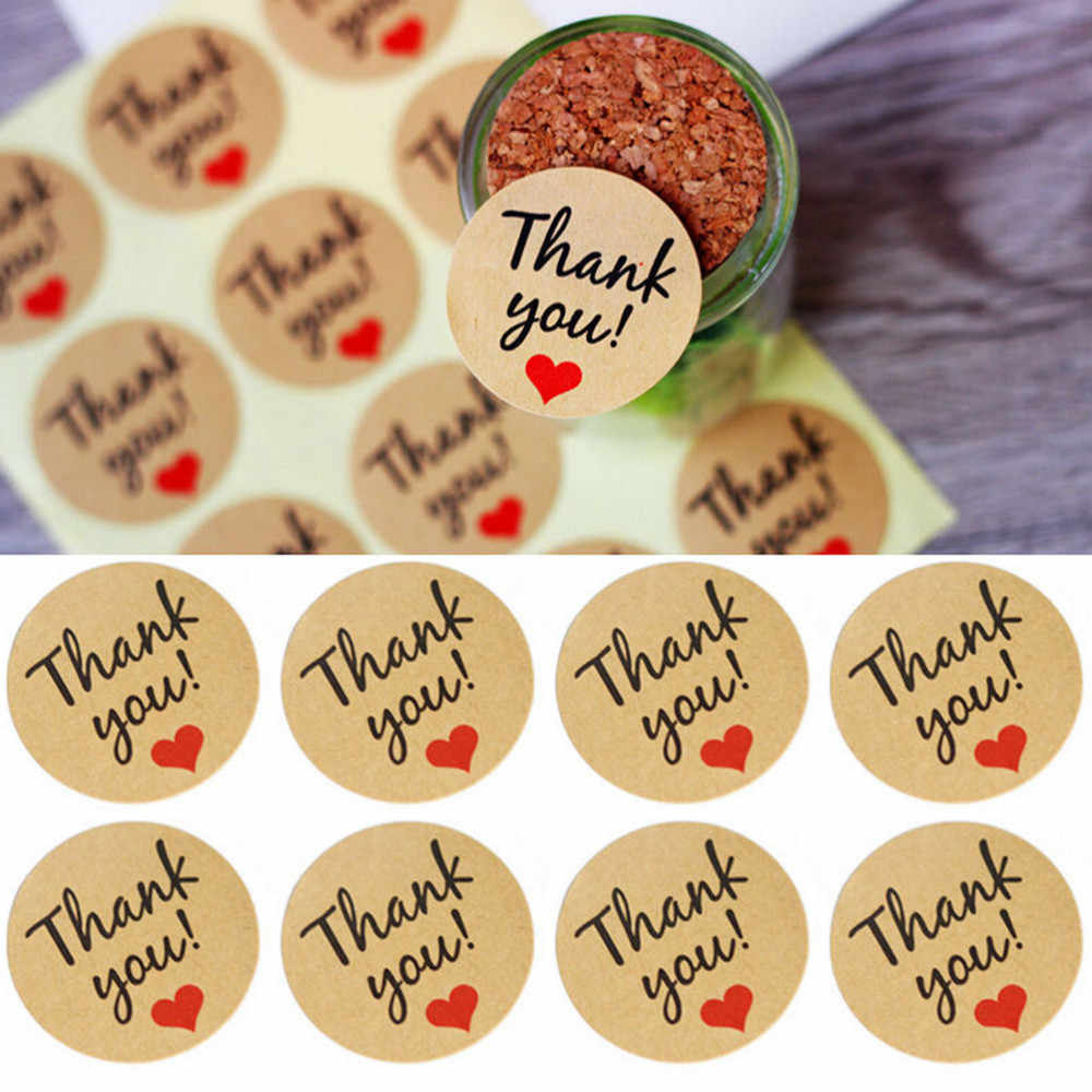 5 Sheets/60 Die THANK YOU heart design Sticker Labels Seals Gift Stationery Planner Decoration Scrapbooking Dia