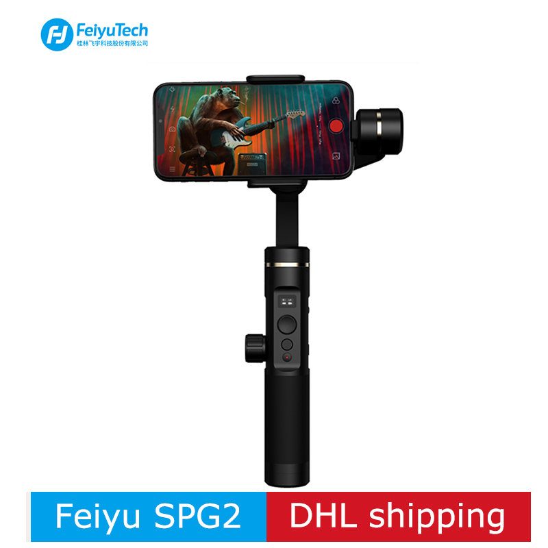 FeiyuTech SPG2 3-Axes De Poche Stabilisateur Cardan pour Smartphone d'action caméra iphone XS X Max 7 8 6 Gopro 7 PK DJI osmo lisse 4
