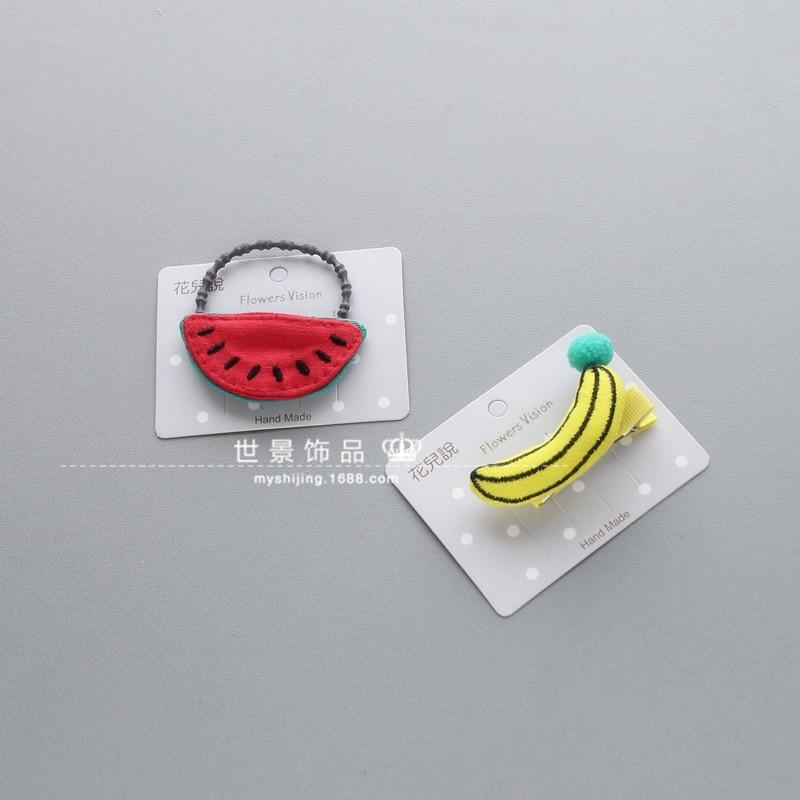 korea Handmade Fabric Banana Princess Hair Accessories Hair Clip Flower Crown Hairpin Elastic Hair Band Headbands 4