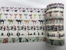 1.5cm*10m Hallowmas Cat Washi Tape halloween washi tape cat  Masking washi Tape Adhesive Tape Kawaii Stationery