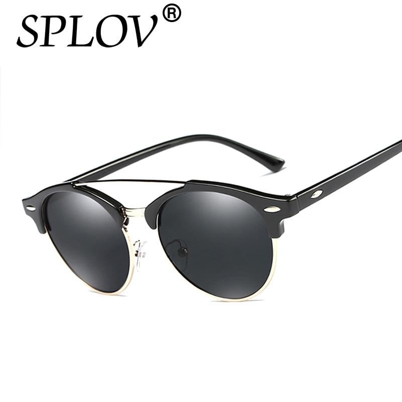 33bb2b79467f9 2017 Summer Polarized Aviation Round Sunglasses Men Vintage Retro Women  Driving Metal Ray Oculos Brand luxury Designer Glasses
