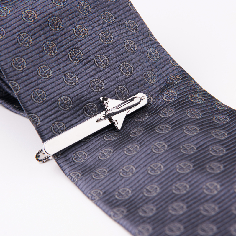 Classic Men's Tie Clips And Cufflinks Set Airplane Shape Cuff Link Aircraft Tie Pin For Business Fashion Gift Free Shipping