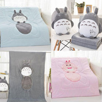 CXZYKING Cute Japanese Anime My Neighbor Totoro Doll Change Blanket Quilt Cartoon Toys Cute Totoro Plush