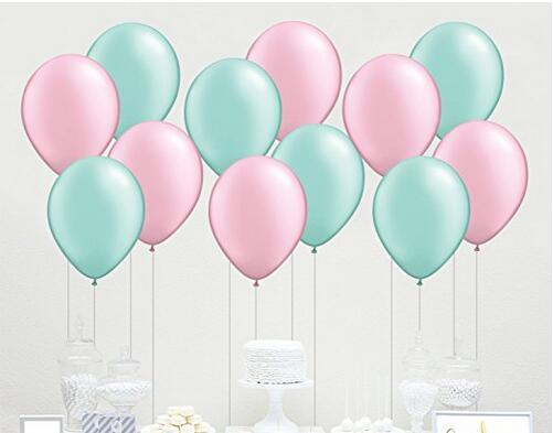 60 Count 10 Mixed Blush Pink And Mint Green Latex Balloon Wedding