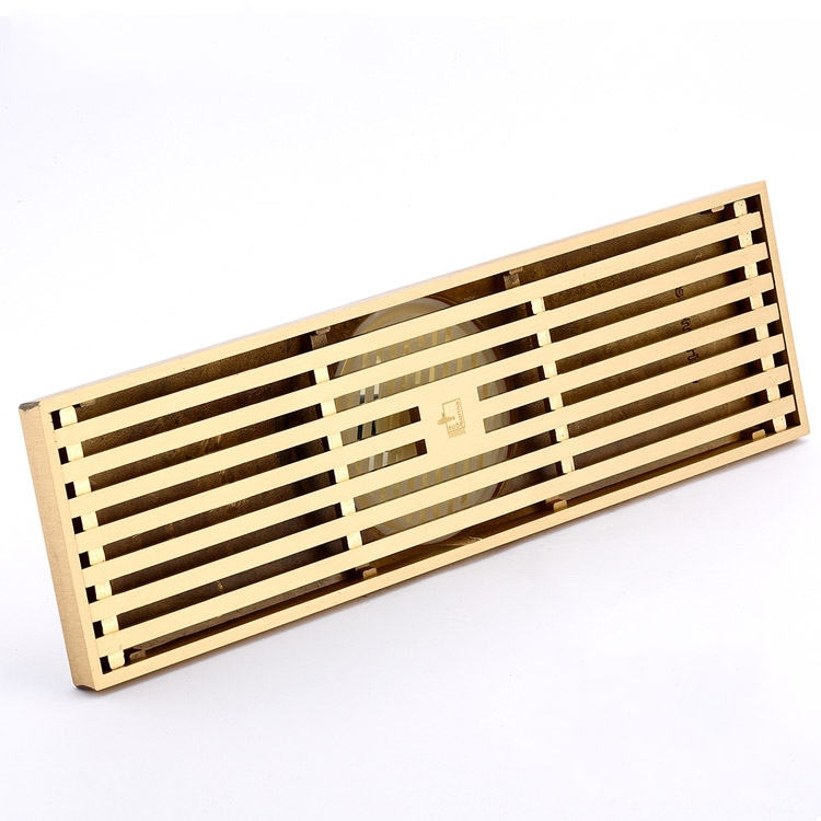 ФОТО 300mm Rose Gold Brass Square Bath Floor Drain Shower Waste Water Drainer,large-traffic bathroom shower square floor waste drain