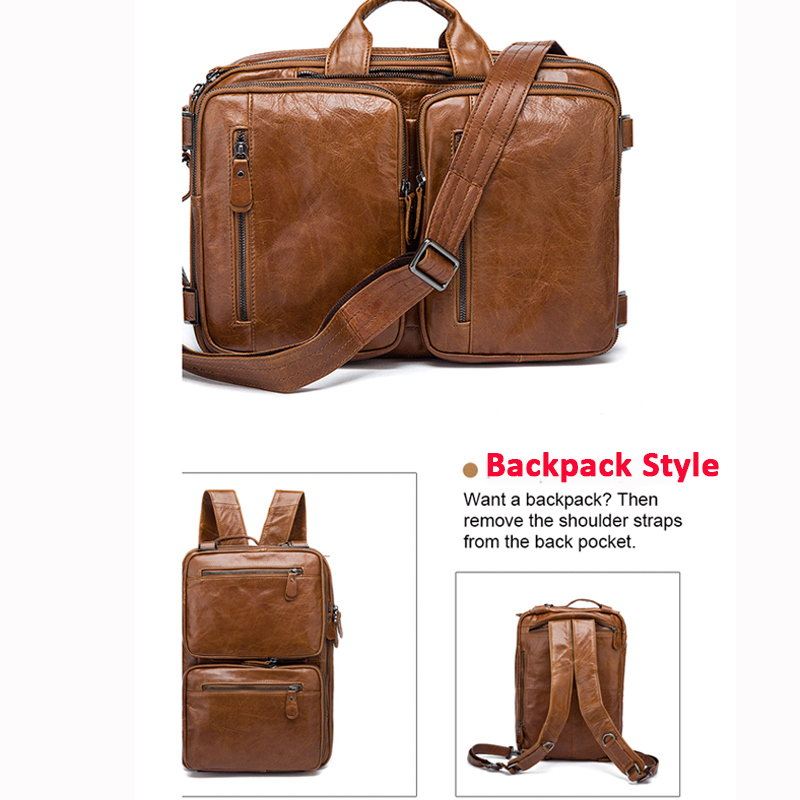 Image 3 - WESTAL Men's Briefcase messenger bag men leather briefcase male laptop bags men's genuine leather bag office bags for men totes-in Briefcases from Luggage & Bags