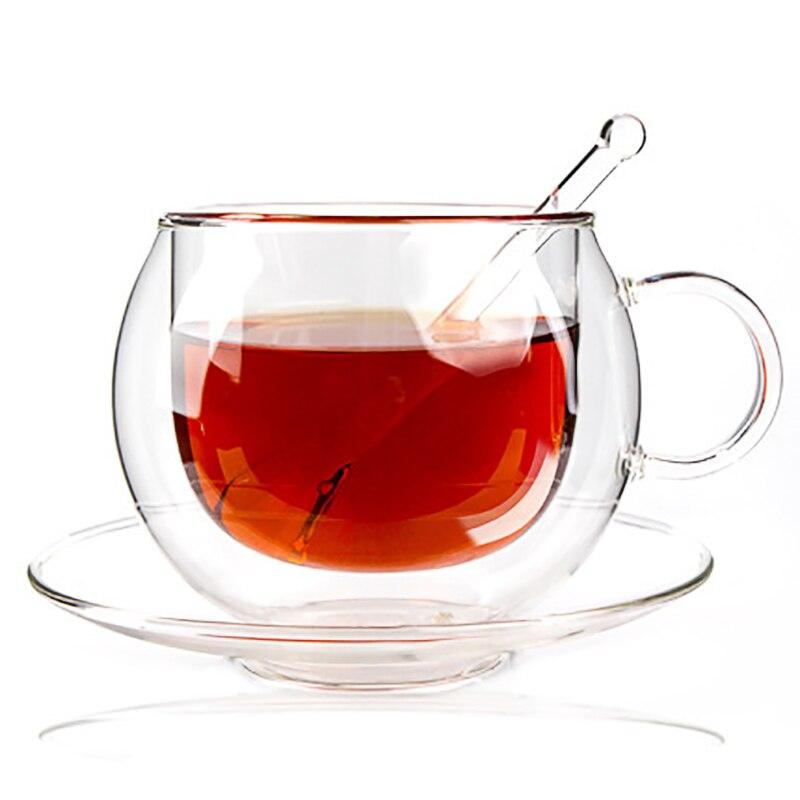 220 ml dupla xícaras de café conjunto xícara de café Com colher e pires copos Continental e presente