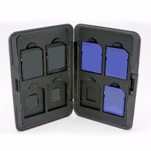 VAKIND серебро Портативный Алюминий случае 16 слотов (8 + 8) для Micro SD и для SD карты памяти держатель карты памяти случае 10,3*7,4*1,7 см