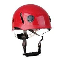 Durable Erwachsenen Berufs Klettern Helm Höhlenforschung Rettungs Harte Hut Rot für Rettungs Klettern Höhlenforschung Kajakfahren Abseilen