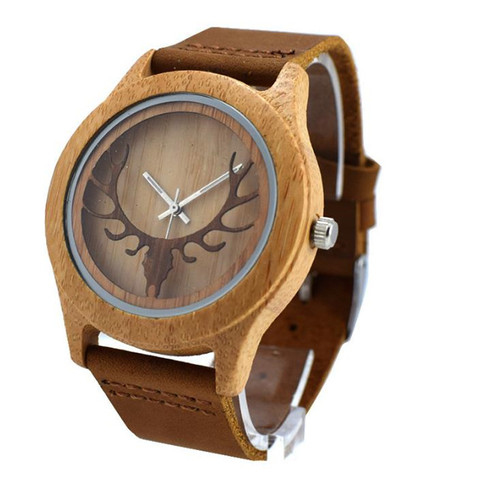 YUELANSHI Wood watch  Hot Sell Men Women Fashion Wooden Watches with Genuine Leather Luxury Quartz WristWatch Gifts Islamabad