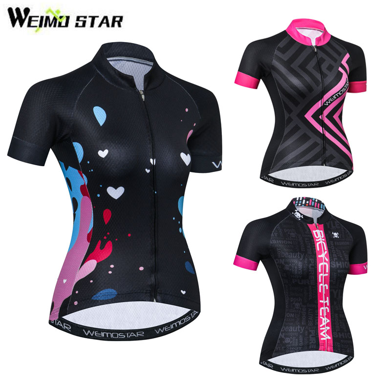 Pro Team Cycling Jersey Women 2018 Summer Short Sleeve Black Bicycle Clothing mtb Road Bike Jersey Cycling Wear Ropa Ciclismo gore bike wear women s xenon lady jersey