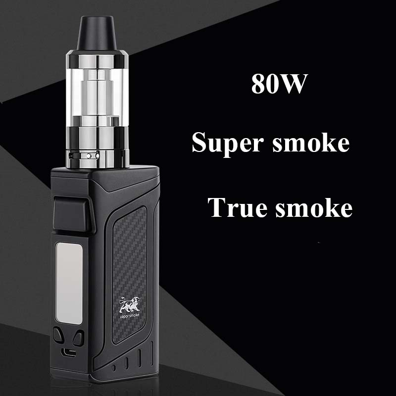 FERSHA 80W Superpower electronic cigarette kit Hookah vape mod 2000mAh battery 3.5ml e-cigarette atomizer 510 Vaoer quit smoking