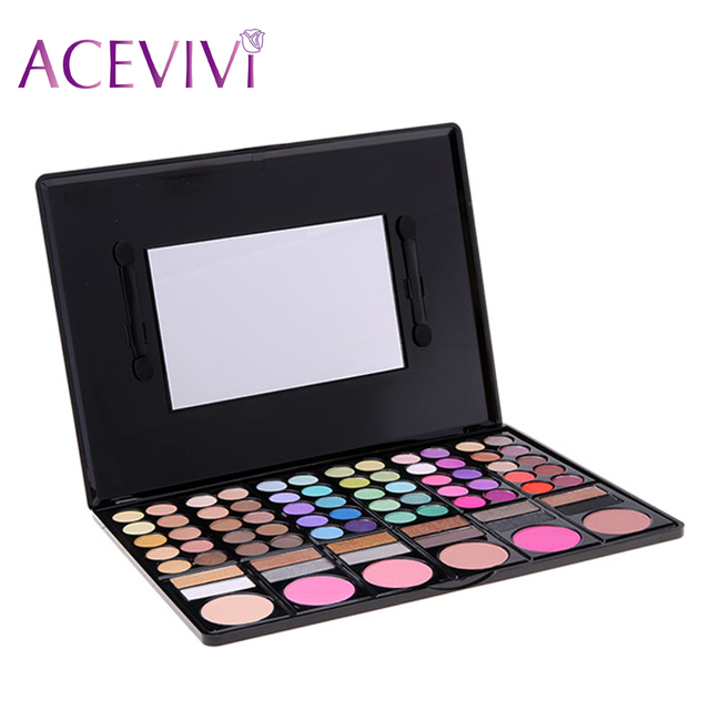 ACEVIVI Women Cosmetics Professional 78 Colors Natural Eyeshadow Palette Makeup Eye Shadow Kit 31