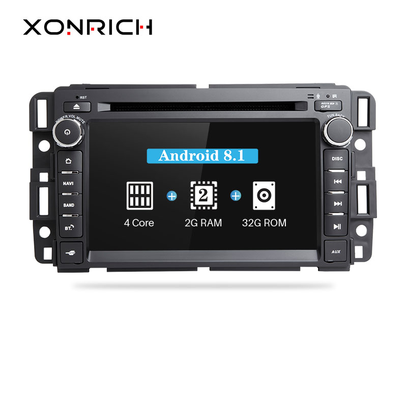 xonrich 1din gps radio android 8 1 car dvd player for gmc. Black Bedroom Furniture Sets. Home Design Ideas