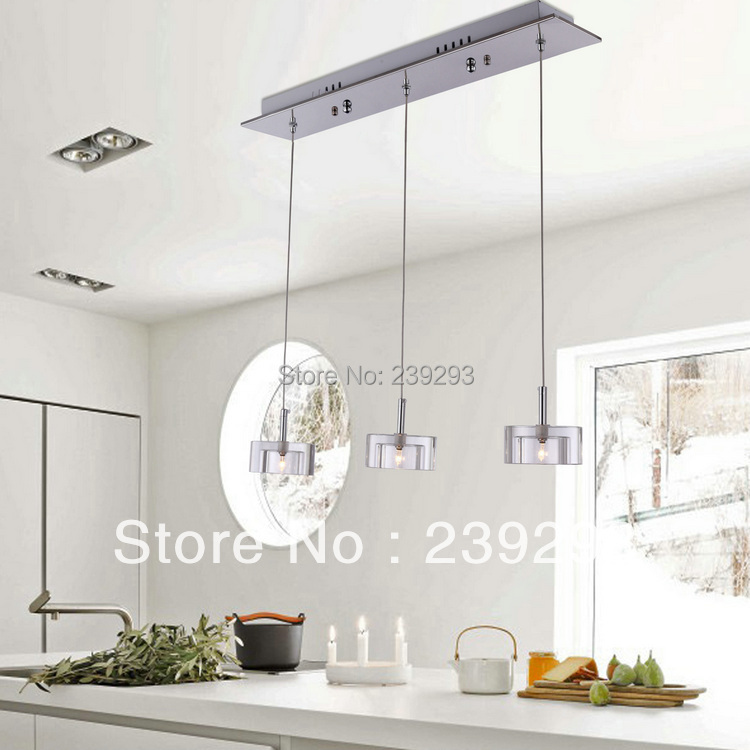 Mamei Free Shipping Comtemporary 110 220v Pendant Lamp In The Kitchen 3 Lights G4 60w