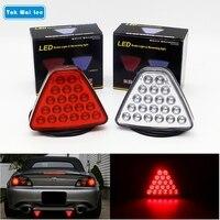 1Pcs LED Car Tail Light Brake Stop Reversing Warning Lamp 20 LEDs Red Triangl Flash Strobe