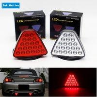 1Pcs LED Car Tail Light Brake Stop Reversing Warning Lamp 20 LEDs Red Triangl Flash Strobe