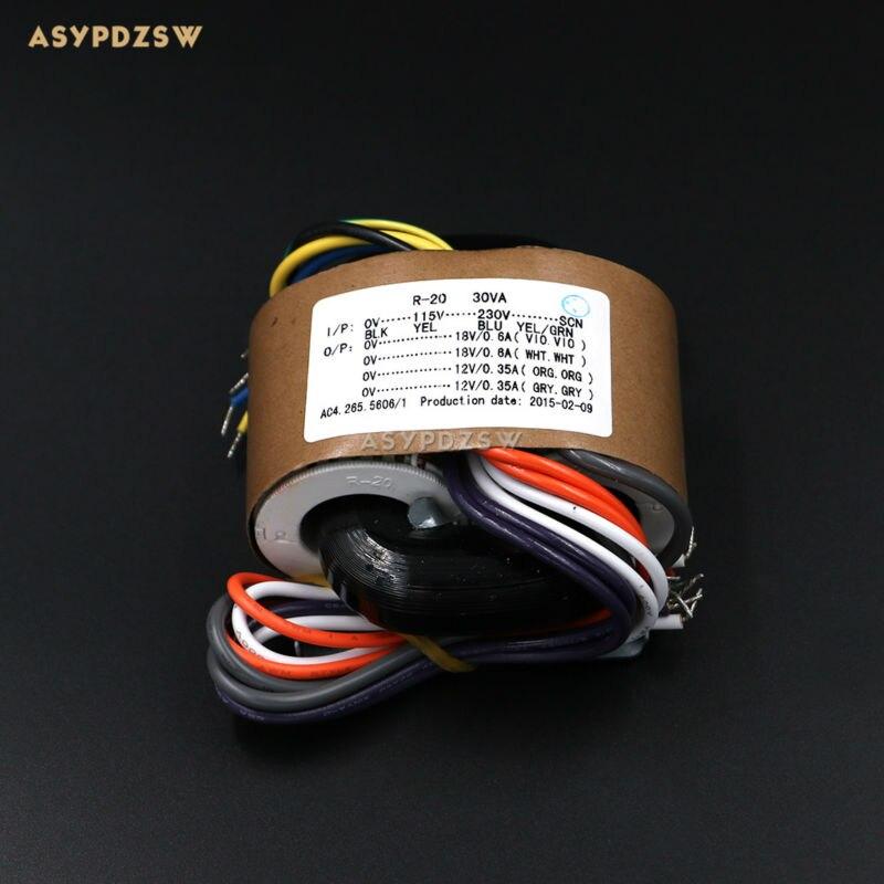 115ボルト/230ボルト30vaデュアル18ボルトデュアル12ボルトr型トランスシールド線出力30ワット(2 × 18ボルト+ 2 × 12ボルト)