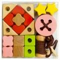 Frete grátis Grande seqüência de jogos/séries contas, AUXILIARES de Ensino Montessori de brinquedo do bebê, crianças blocos de construção de contas