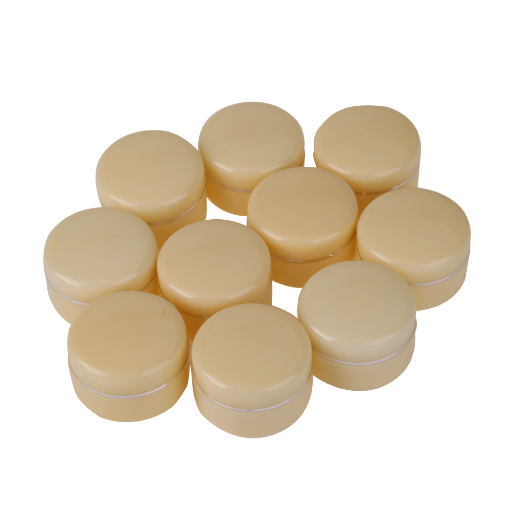 10pcs Beige 30g Empty Cosmetic Jar Pot Eyeshadow Face Cream Container Box Refillable Bottles Acrylic Wholesale купить