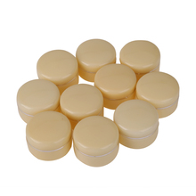 10pcs Beige 30g Empty Cosmetic Jar Pot Eyeshadow Face Cream Container Box Refillable Bottles Acrylic