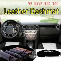For Land Rover Discovery LR3 LR4 2004 2016 2009 Leather Dashmat Dashboard Cover Dash Carpet Custom Car Styling LHD+RHD