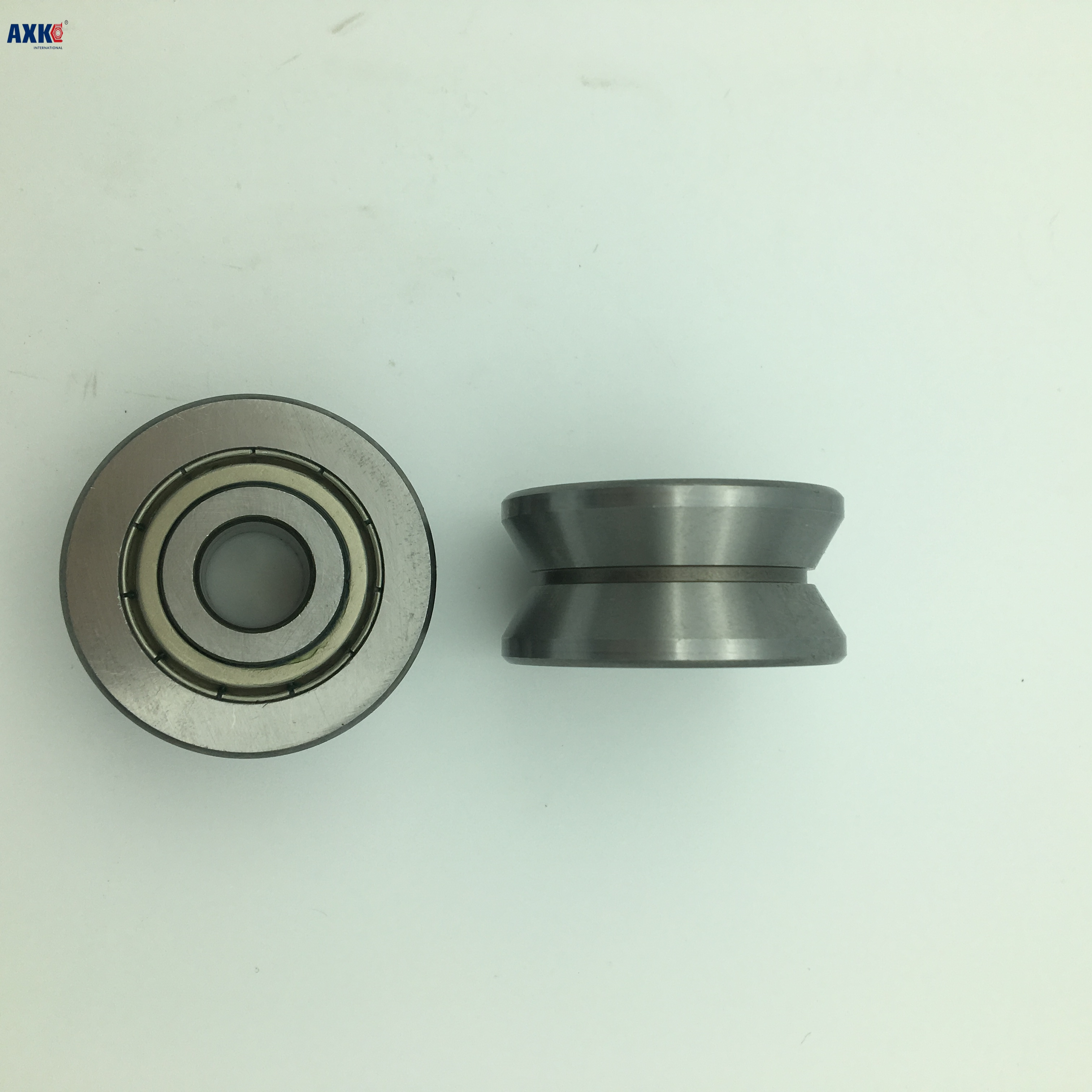 Free shipping high quality TU16 T16  U16 T16.5 ABEC5 6mm pulley bearings 5x16.5x9x11mm U groove roller wheel ball bearing T-U-16 1 piece bu3328 6 6 33 27 5 29 5 mm z25 guide rail u groove plastic roller embedded dual bearing