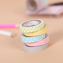 5 pcs set color paper tapes handmade diy decorative washi tape colored rainbow tapes.jpg 250x250