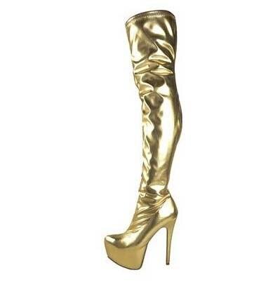 Platform women desinger boots over the knee sexy high heels women Spring Autumn boots suede women dress white black gold boots