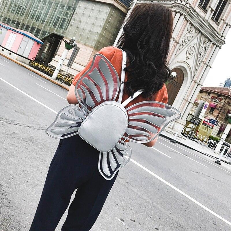 Крыло Рюкзак Сумка 101403 Для женщин рюкзак Бабочка крылья Ангела рюкзак для девочек