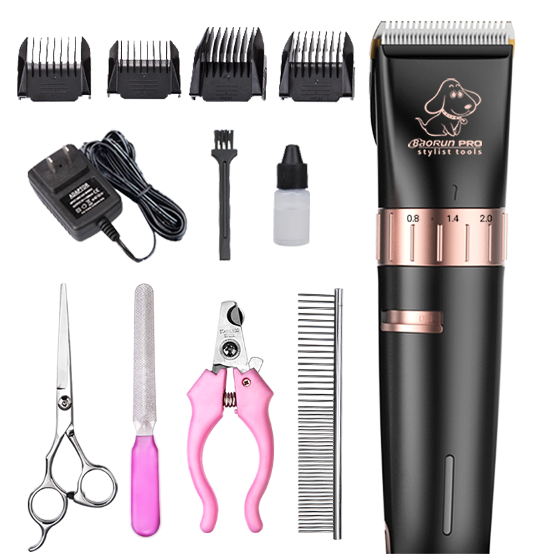 Professional electric pet dog hair trimmer cat dog grooming scissors ceramic hair cutting machine pet dog shaver   (6)