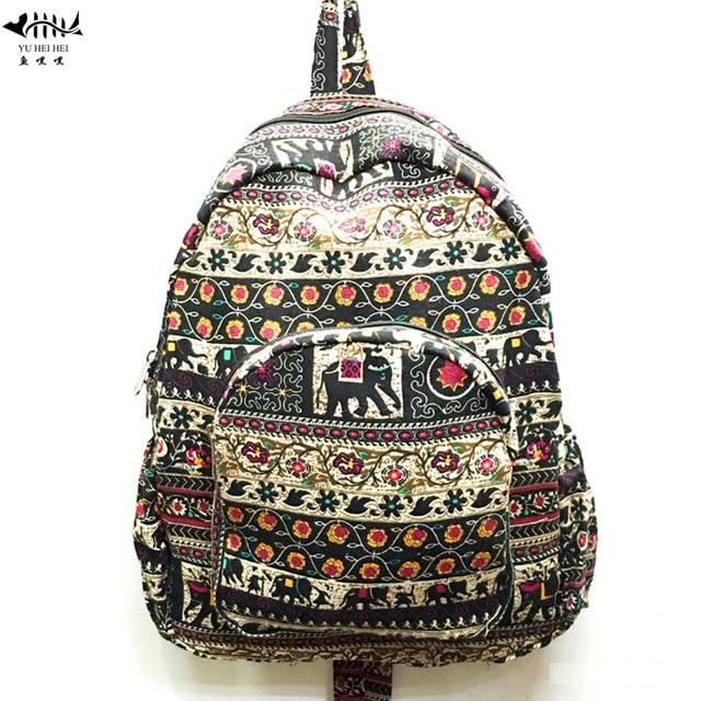 6dc1b13e1a Vintage Teen Girls Cotton Canvas Travel Backpack Shoulder Bag Lightweight  Women s Backpacks Bohemian Bags free shipping