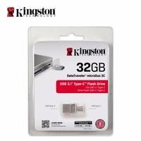 Kingston OTG Tipo C usb flash pen drive USB 3.1 3.0 16 gb 32 gb 64 gb 128 gb Smartphone Micro de Memoria USB Stick microDuo