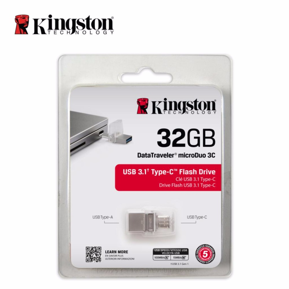 Kingston OTG Type C usb flash pen drive 3.1 USB 3.0 16gb 32gb 64gb 128gb Smartphone Micro Memory USB Stick microDuo usb flash drive