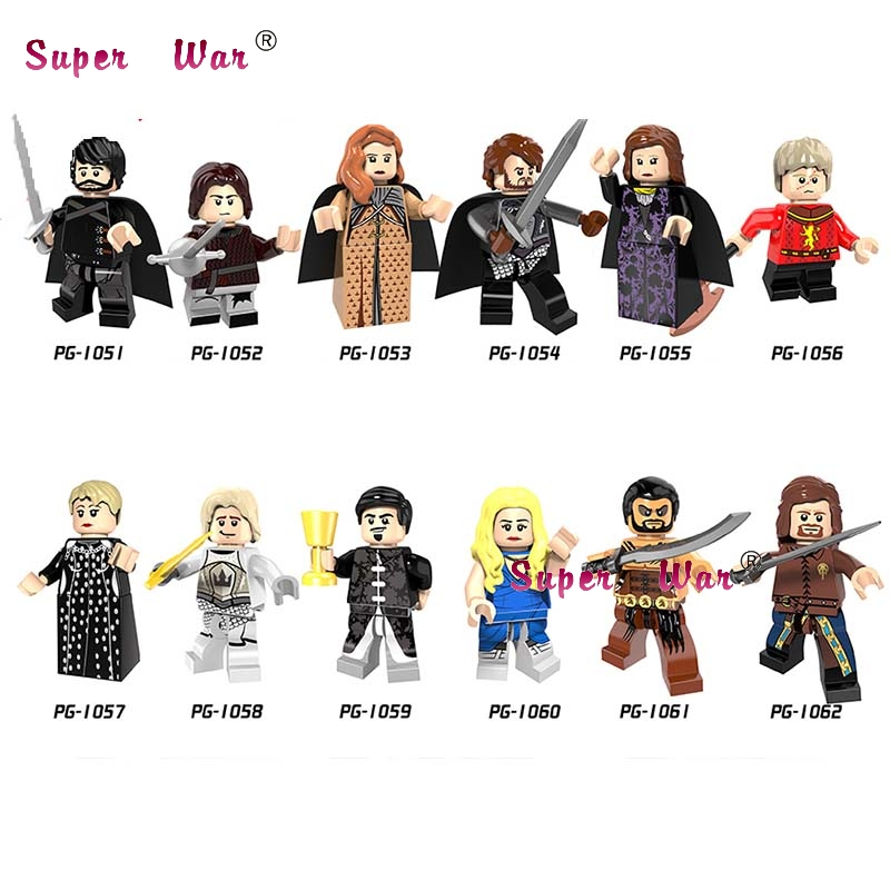 1PCS Game of Thrones Caitlin Alicia Stark Petyr Baelish Jaime Ice and Fire building blocks model bricks toys for children