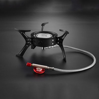 1pcs Mini Camping Stoves Folding Outdoor Gas Stove Portable Furnace Cooking Picnic Split Stoves 3200w Cooker Burners