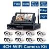 8CH Wireless Security NVR Kits WIFI IP Plug Play 720P 1MP IR Camera Security Kit Onvif