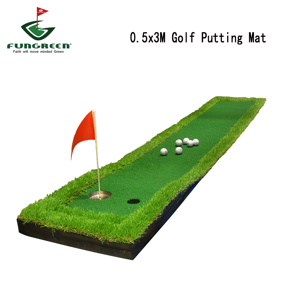 50X300CM Mini Backyard Golf Putting Green Indoor Golf Training Practice Hitting Mat Simulation Golf Green OEM Logo Golf Mat golf putting mat mini golf putting trainer with automatic ball return indoor artificial grass carpet