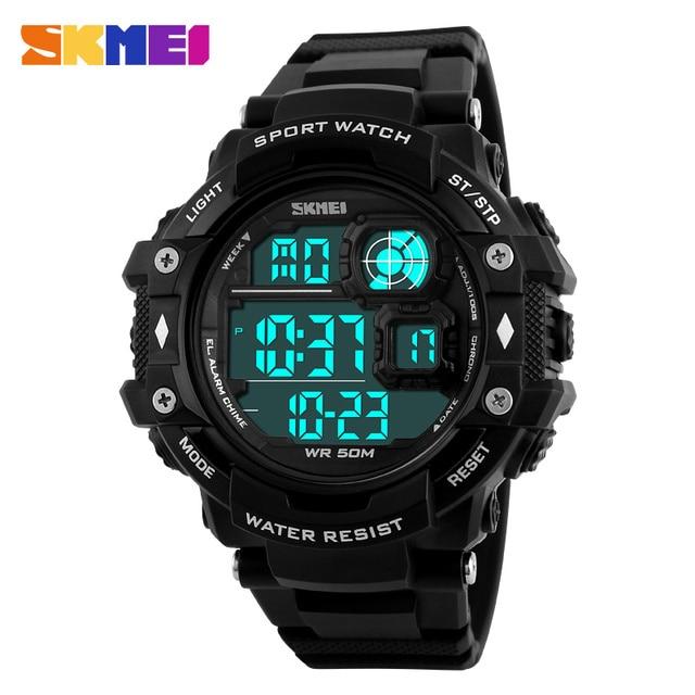 Nuevo 2016 Skmei Marca Reloj de Los Hombres 1118 Deporte Al Aire Libre Del Reloj LED relojes de Pulsera Digitales Resistencia Al Agua 50 M