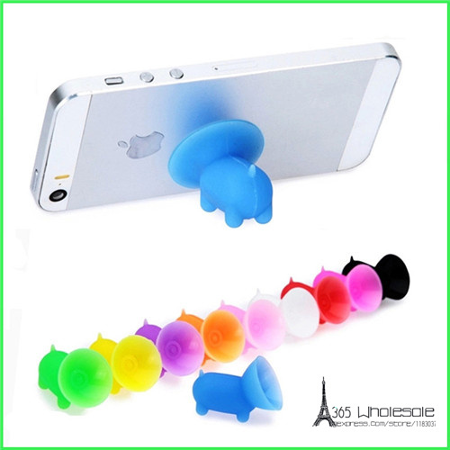 Free shipping 50pcs/<font><b>lot</b></font> mixed colors Piggie Suction Silicone Mobile <font><b>Cell</b></font> <font><b>Phone</b></font> Rack Holder Mount <font><b>Stand</b></font> accessory party favor