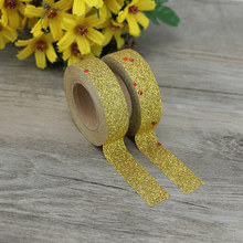 1pcs Adhesive Silver Golden powder glitter Washi Tape Scrapbooking Christmas Party Kawaii Cute Decorative Paper Crafts Hot Sale new arrival adhesive silver golden glitter washi tape scrapbooking christmas party kawaii cute decorative paper crafts hot sale