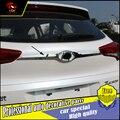 Автомобилей Стайлинг Хром ABS Задний Дверь Хвост Ворота Накладка Наклейка Для Hyundai TUCSON 2015 2016 2017 Внешний Украшения Аксессуары