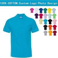 New Design Cotton Mens T Shirt Custom Logo Printed Tees High Quality Camiseta Masculina Polo Collar