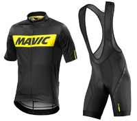 MAVIC 2017 NEW Cycling Jersey Short Sleeve Set Sport Wear Bib Shorts Bicycle Clothes Quick Dry