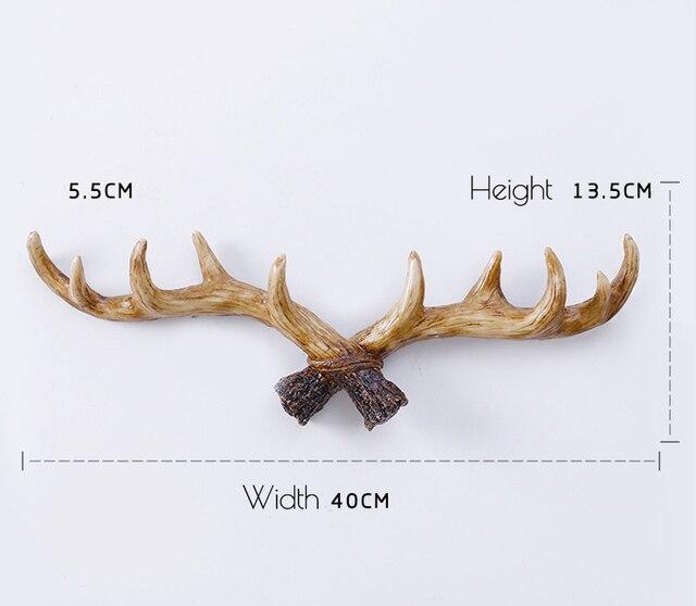 Nordic Style Resin Deer Horn Wall Hanging Decoration Horn Deer Horn Hook For Room Wall Decor Nordic Scandinavian Room Decoration
