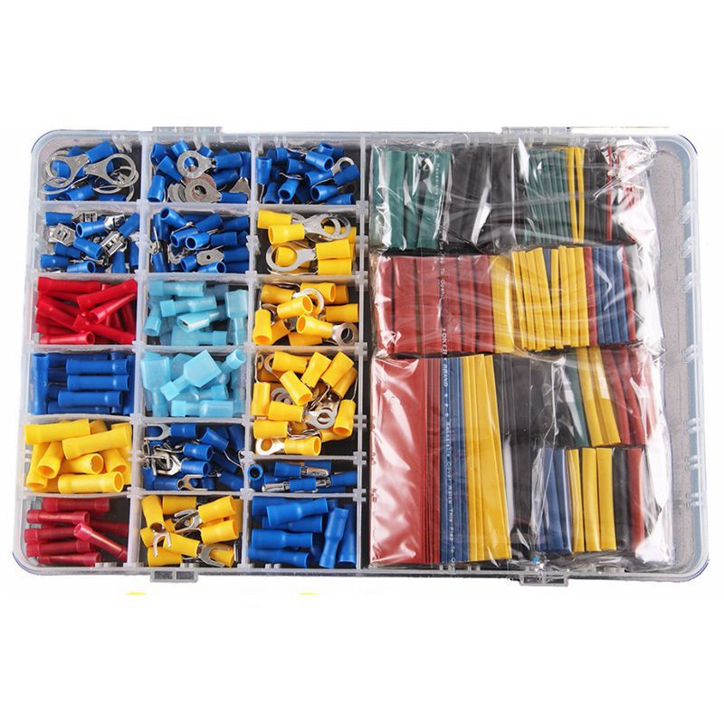 558pcs Heat Shrink Tube Sleeving Kit Set Car Wire Electrical Terminals Crimp Connectors with Plastic Box-in Terminals from Home Improvement