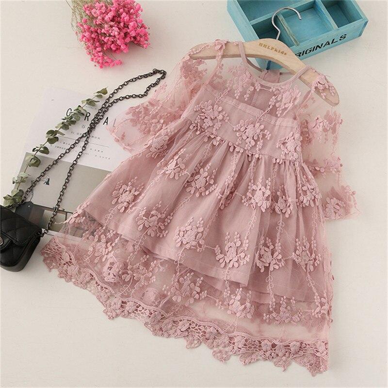 BibiCola, ropa de verano para niñas, vestidos infantiles para niñas, vestido con flores de encaje, vestido de fiesta para niñas, vestido de boda para niñas, vestido de princesa para niñas