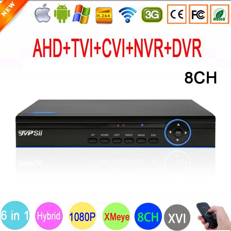 HI3520D Xmeye 8 Channel 8CH 1080P,960P,720P,960H Surveillance Camera 1080N Hybrid Wifi XVI NVR TVI CVI AHD CCTV DVR FreeShipping red panel 1080p surveillance camera 1080n h3521a xmeye 25fps 8ch 8 channel 5 in 1 hybrid wifi nvr cvi tvi ahd dvr freeshipping