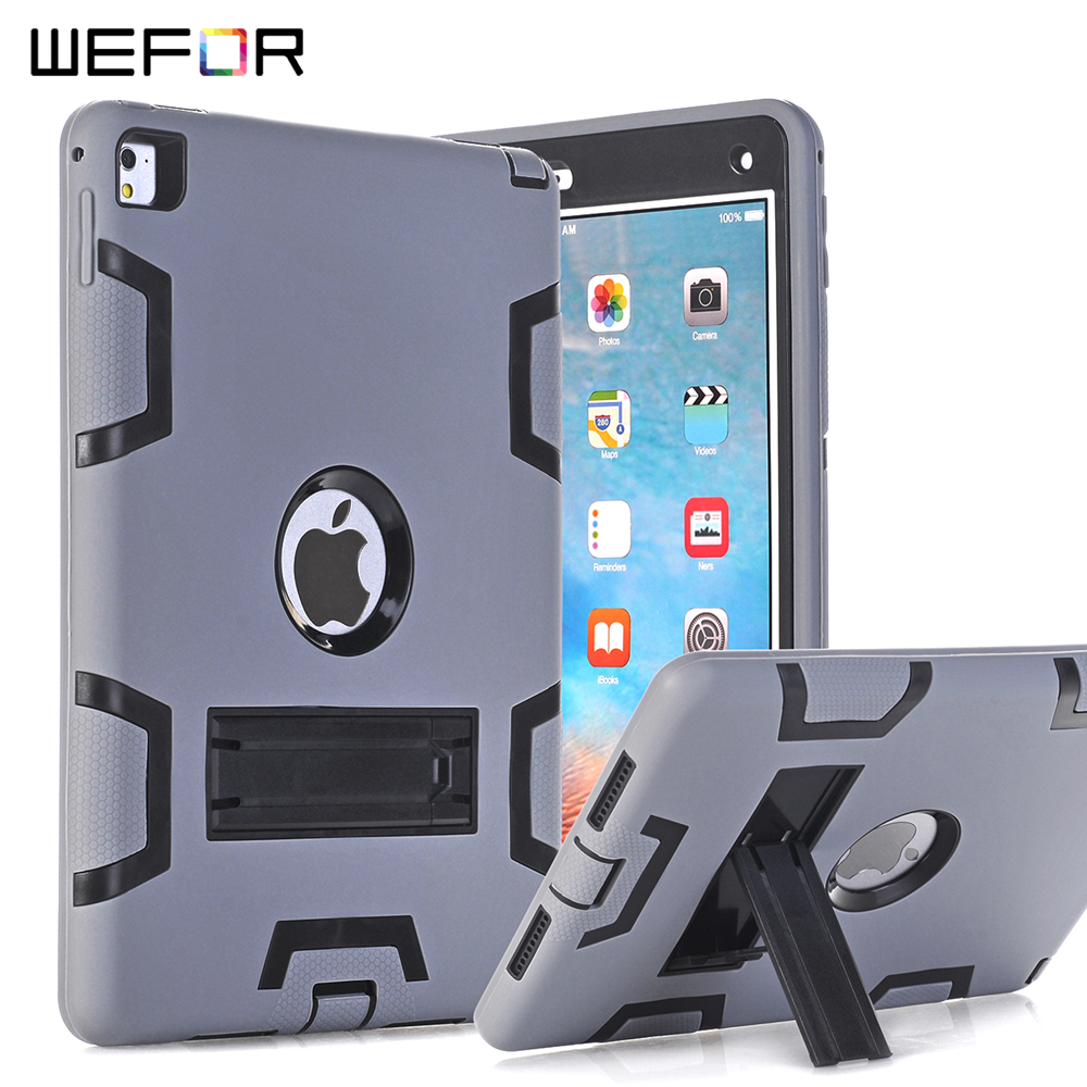 For iPad Pro 9.7,For iPad Air 2 Case High Impact Resistant Hybrid Three Layer Heavy Duty Armor Defender Full Body Protector armor shockproof case for apple ipad air 2 impact resistant hybrid 3 layer silicone combo case full body protector for ipad 6