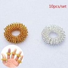 Горячая Распродажа, массажное кольцо для пальцев, акупунктурное кольцо, забота о здоровье, массаж тела, массажер для похудения, расслабляющий массажер для рук